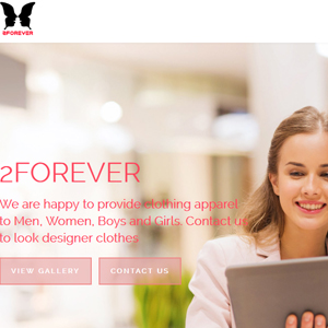 2Forever website design